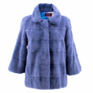 Hockley Blue Mink Short Coat