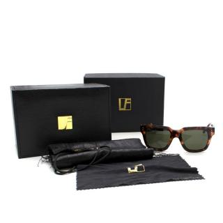 Linda Farrow Square Framed Sunglasses