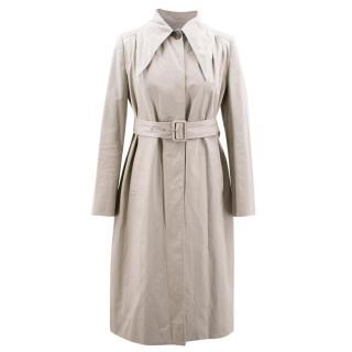 Balenciaga Beige Cotton Trench Coat