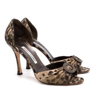 Manolo Blahnik Leopard Heels
