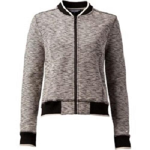 TOMMY HILFIGER Black and White Bomber Jacket