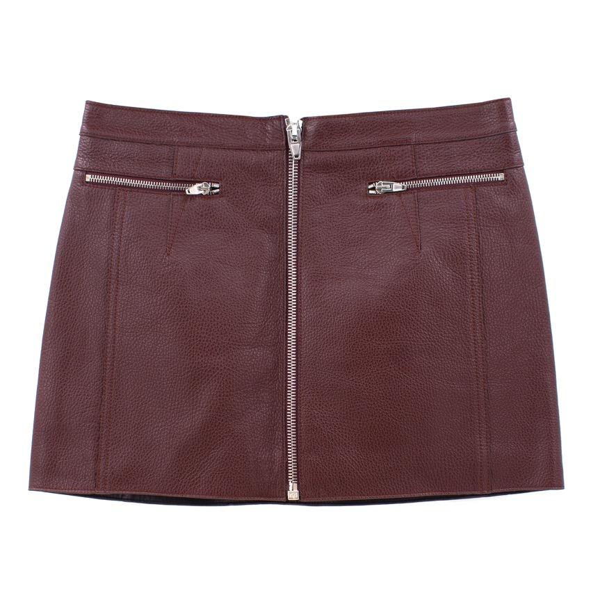 Alexander Wang Textured Leather Mini Skirt