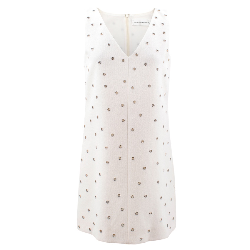 'Victoria' Victoria Beckham Eyelet Embellished Mini Dress