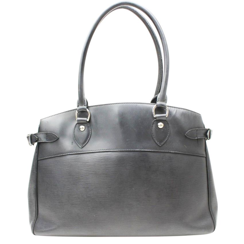 Louis Vuitton Passy Gm Noir Black Epi Bag   HEWI London d6ec3ca5fc