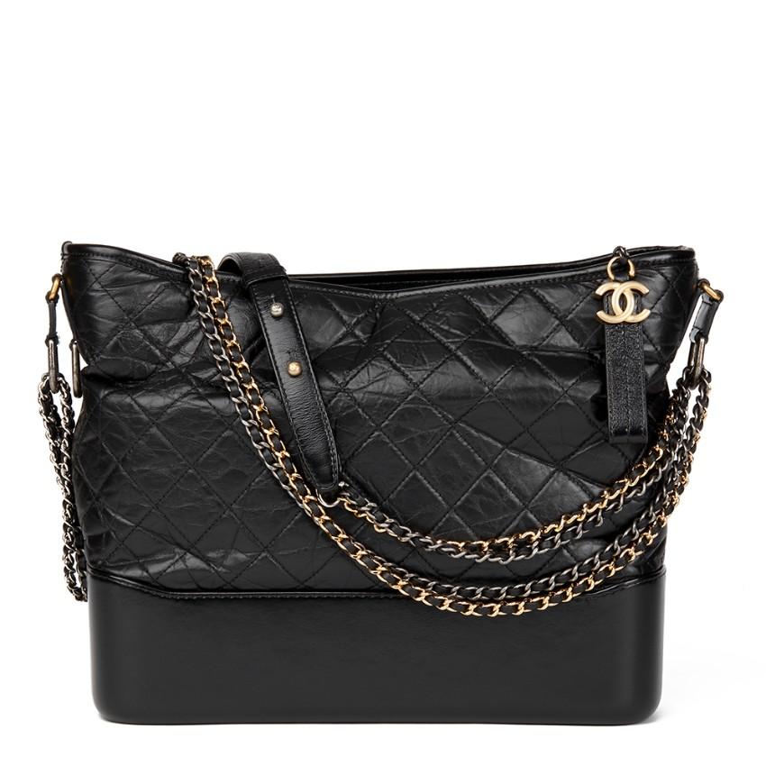 b07045259202 Chanel Gabrielle Black Hobo Bag132968 | HEWI London