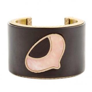 Bottega Veneta Metal Wood Bracelet