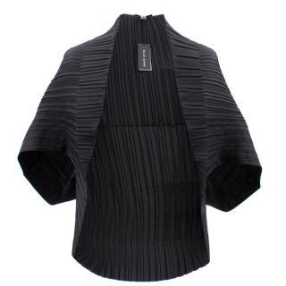 Ellie Saab Black Silk Cardigan