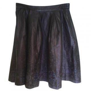 Markus Lupfer Leather Skater Skirt