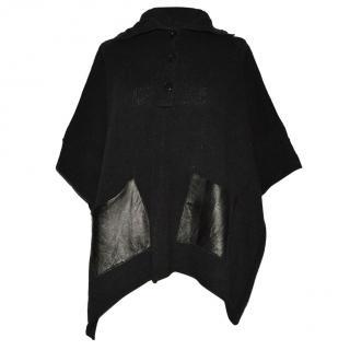 Malene Birger black linen cotton poncho
