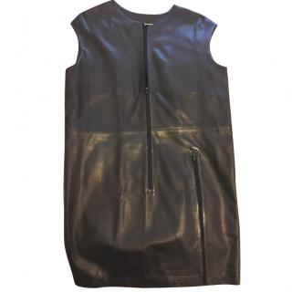 MM6 Lambskin Leather Sheath Dress
