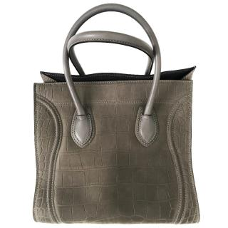 Celine medium grey phantom luggage bag