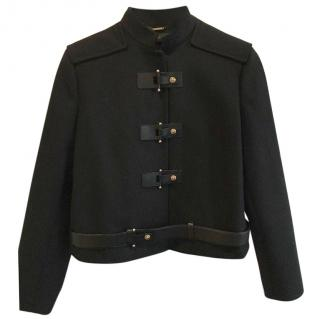 Versace Wool Cashmere Black Jacket