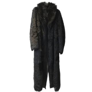 Versus Versace Men�s Full length Faux Fur Coat