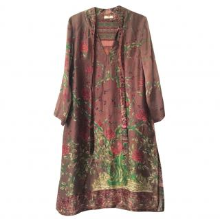Day Birger et Mikkelsen Silk Tunic in Green Print
