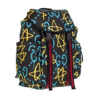Gucci ghost print canvas backpack