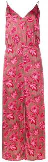 Zimmermann brown and pink floral silk dress