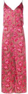 Zimmermann brown and pink floral silk dress