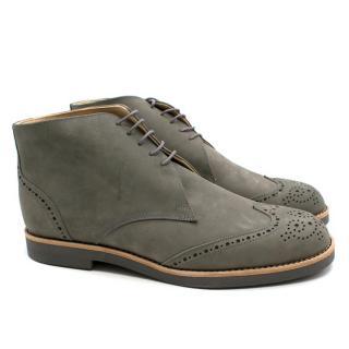 T & F Slack Shoemakers London Handmade Green Brogues