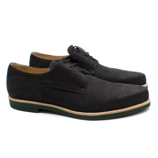 T & F Slack Shoemakers London Handmade Black Suede Brogues