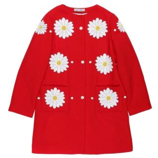 Dolce & Gabbana girl red Coat/ Jacket 11 Years