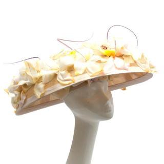 Siggi London Bespoke Showpiece Orchid Hat