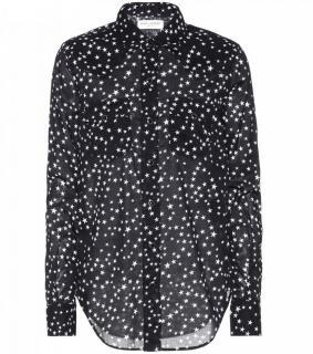 Saint Laurent star print crepe blouse
