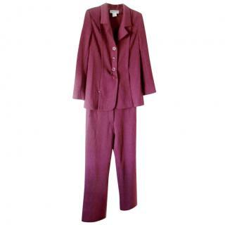 Sonia Rykiel Tulip Pink Wool Pants Suit