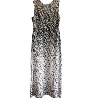 BCBG MaxAzria white and black patterned maxi dress