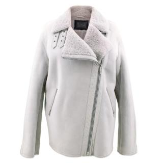 MCQ  Alexander McQueen Cream Shearling Jacket