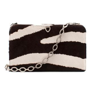 Valentino Zebra Pattern Pony Hair Shoulder Bag