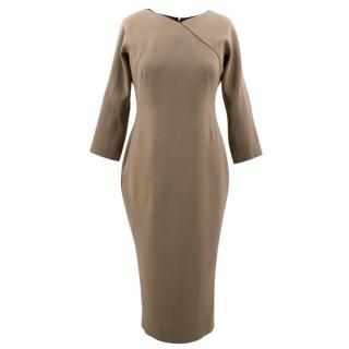 Victoria Beckham Dark Sand Dress