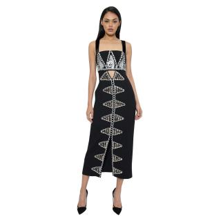 Temperley Black Embellished Strap Dress