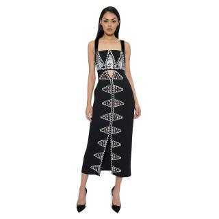Temperley Black Embellished Strap Dress
