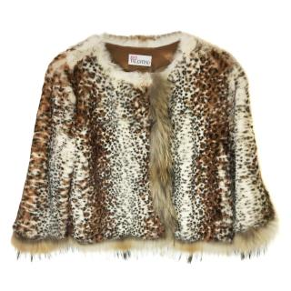 Red Valentino Rabbit And Raccoon Fur Jacket