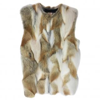 MSGM Patchwork Fur Gilet