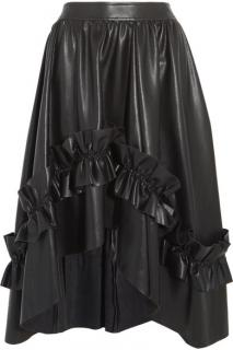 Cedric Charlier Faux Leather Skirt