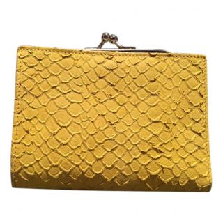 Maison Martin Margiela yellow leather wallet