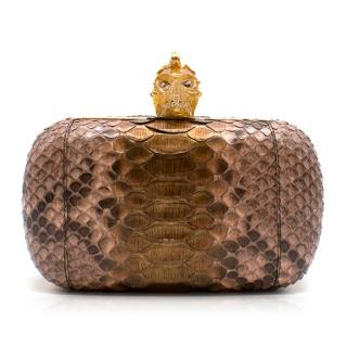Alexander McQueen Python Box Clutch