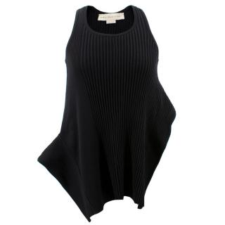 Stella McCartney Black Ribbed Vest Top