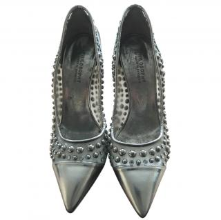 Philosophy Di Alberta Ferretti Silver Studded Shoes