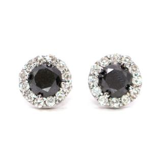 Bespoke Black and White Diamond Earrings