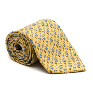 Salvatore Ferragamo Yellow Silk Tie