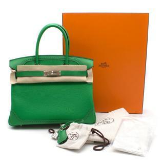 Hermes Bamboo Togo 30CM Ghillies Birkin Bag