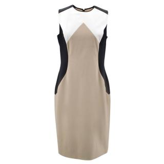 Jason Wu Beige Pattern Wool Dress