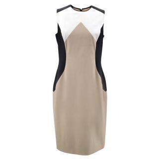 Jason Wu Beige Pattern Wool Dress