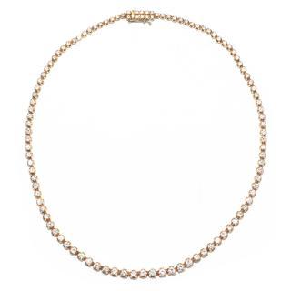 Bespoke Diamond Set Line Necklace - approx 13 carats