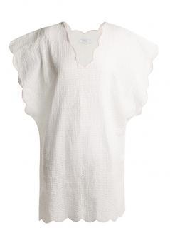 MARYSIA Swim scallop-edged cotton cover-up Kaftan