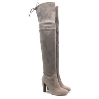 Stuart Weitzman Grey Highland Boots