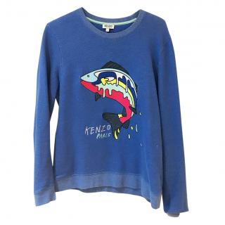 Kenzo  Embroidered Fish Sweatshirt