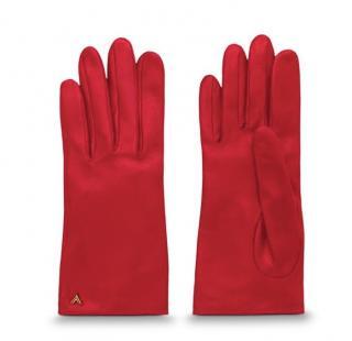Louis Vuitton red gloves
